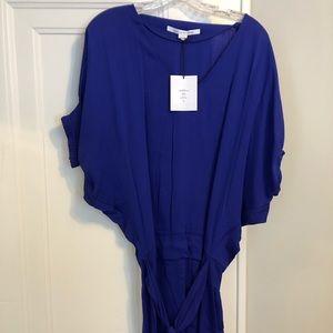 "NWT DVF Blue ""Edna"" Silk Dress size 0"